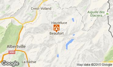 Kaart Areches Beaufort Vakantiehuis 367