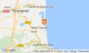 Kaart Saint Cyprien Plage (Strand) Studio 113321