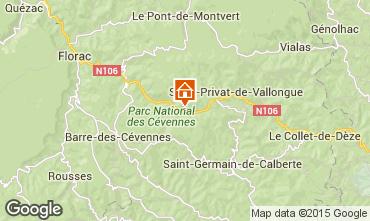 Kaart Florac Vakantiehuis 50858