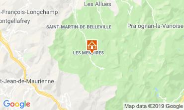 Kaart Les Menuires Studio 112436