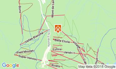 Kaart Les 2 Alpes Appartement 116663