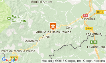 Kaart Amélie-Les-Bains Studio 112815