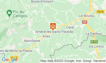 Kaart Amélie-Les-Bains Studio 101149