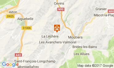 Kaart Valmorel Chalet 111890