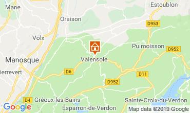 Kaart Valensole Huis 117856