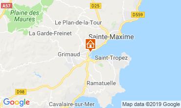 Kaart Port Grimaud Stacaravan 5686