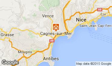 Kaart Cagnes sur Mer Studio 68101