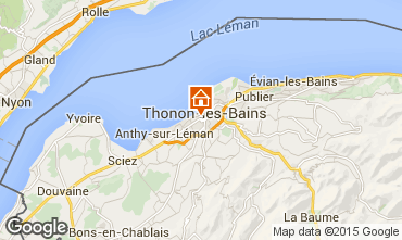 Kaart Thonon Les Bains Appartement 101933