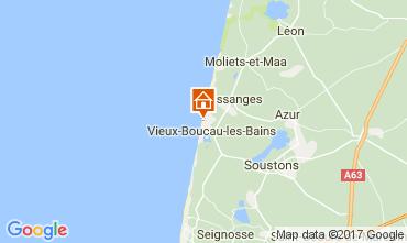 Kaart Vieux Boucau Bungalow 61605