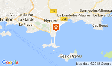 Kaart Hyères Studio 107873