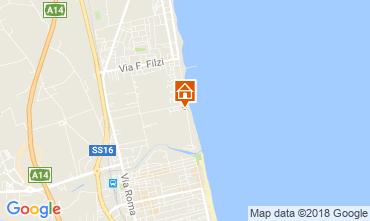 Kaart Alba Adriatica Appartement 61621