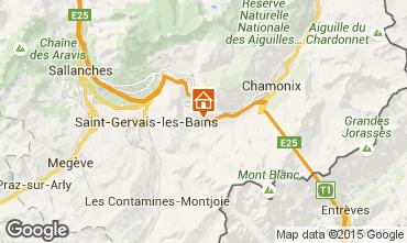 Kaart Chamonix Mont-Blanc Appartement 63987