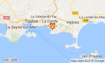 Kaart Hyères Huis 105230