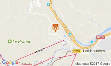 Kaart Chamonix Mont-Blanc Appartement 16023