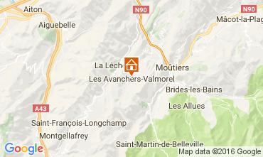Kaart Valmorel Chalet 17349