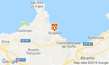 Kaart Scopello Appartement 112787