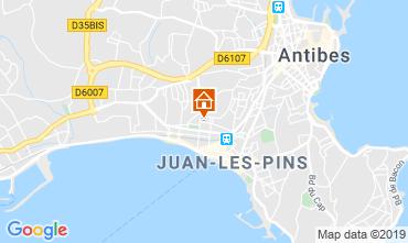 Kaart Juan les Pins Appartement 116732
