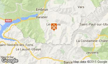 Kaart Les Orres Chalet 2091