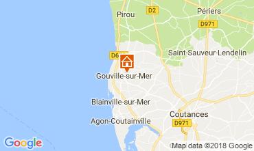 Kaart Gouville sur Mer Vakantiehuis 97855