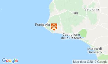 Kaart Castiglione della Pescaia Appartement 89159