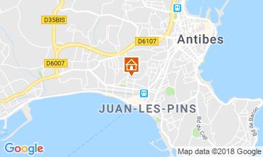 Kaart Juan les Pins Appartement 115721