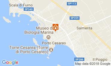 Kaart Porto Cesareo Villa 114807