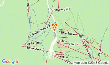 Kaart Les 2 Alpes Appartement 111899