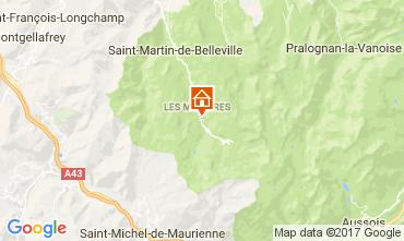 Kaart Les Menuires Appartement 112148