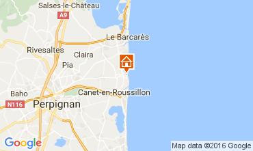 Kaart Sainte Marie la Mer Villa 80236