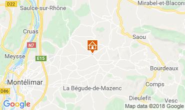 Kaart Dieulefit Vakantiehuis 115038