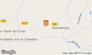 Kaart Saint François Longchamp Chalet 2522