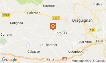 Kaart Lorgues Vakantiehuis 113817