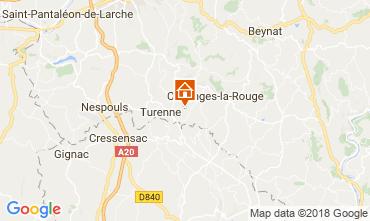 Kaart Brive-la-Gaillarde Huis 115407