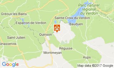 Kaart Artignosc-sur-Verdon Huis 109482