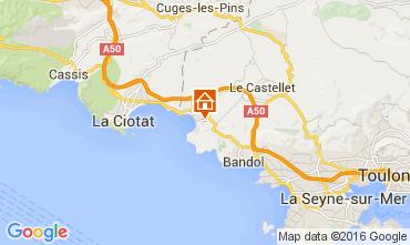 Kaart Saint Cyr sur Mer Studio 89046