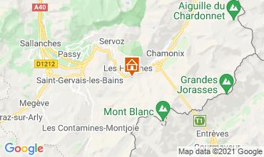 Kaart Chamonix Mont-Blanc Chalet 1412