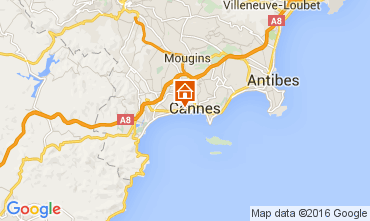 Kaart Cannes Appartement 104812