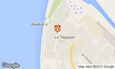 Kaart Le Touquet Appartement 18174