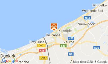 Kaart De Panne Appartement 115662