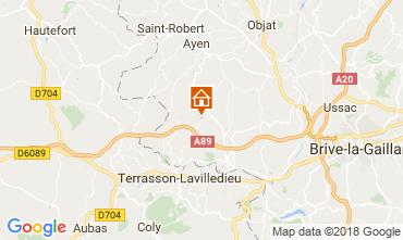 Kaart Brive-la-Gaillarde Vakantiehuis 113617