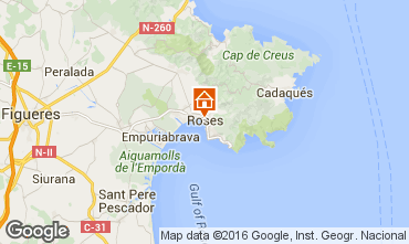 Kaart Rosas Appartement 102234