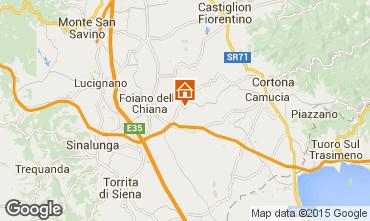 Kaart Cortona Vakantiehuis 14779