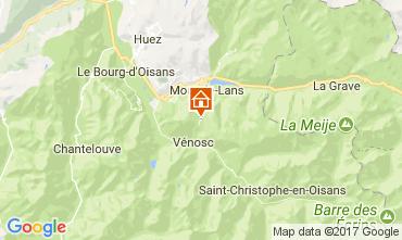Kaart Les 2 Alpes Studio 82617