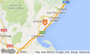 Kaart La Ametlla de Mar Chalet 102063