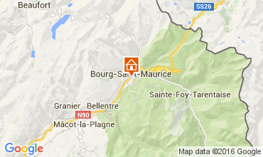 Kaart Bourg saint Maurice Studio 106038