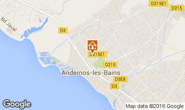 Kaart Andernos les Bains Huis 55736
