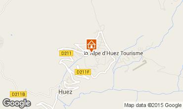Kaart Alpe d'Huez Appartement 28869