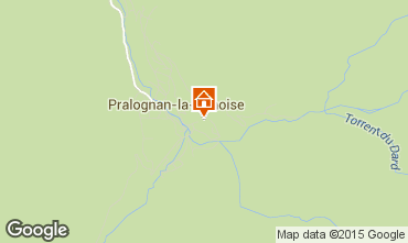 Kaart Pralognan la Vanoise Vakantiehuis 2290