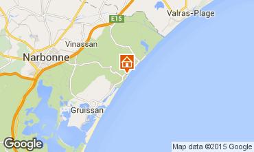 Kaart Narbonne plage (strand) Villa 93844