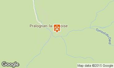 Kaart Pralognan la Vanoise Appartement 25582